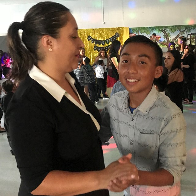 This mother and son duo share a wonderful night at the mother son dance.