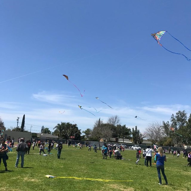 It's a beautiful day to get outside and enjoy Violette's annual kite day!