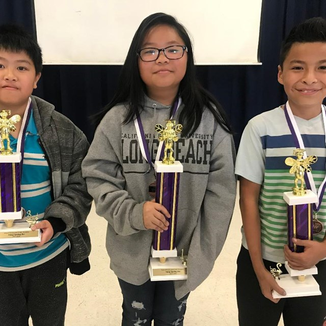 Congrats to our 1st, 2nd, and 3rd place spelling bee winners!
