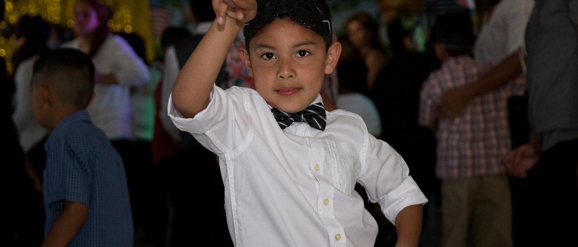 Violette students enjoy the school's annual Mother-Son and Father-Daughter Dances